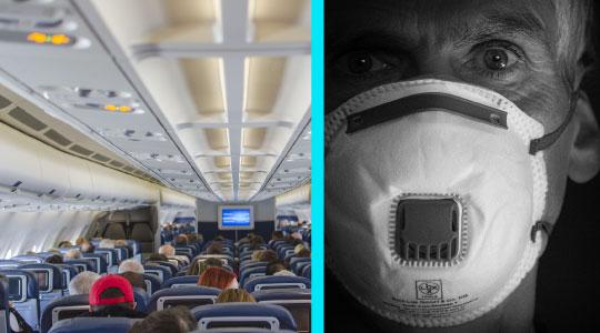 Studiu: Riscul de infectare cu SARS-CoV-2 in avion este scazut daca pasagerii poarta masti