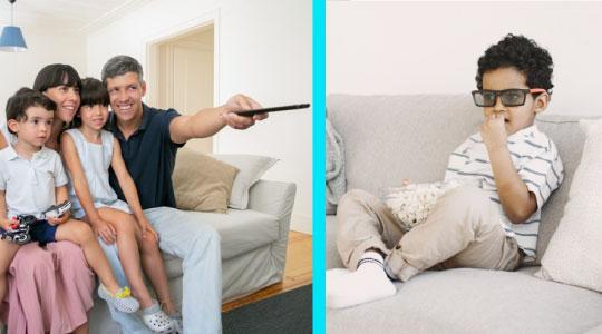 Studiu: Copiii care mananca in fata televizorului au un limbaj mai slab dezvoltat